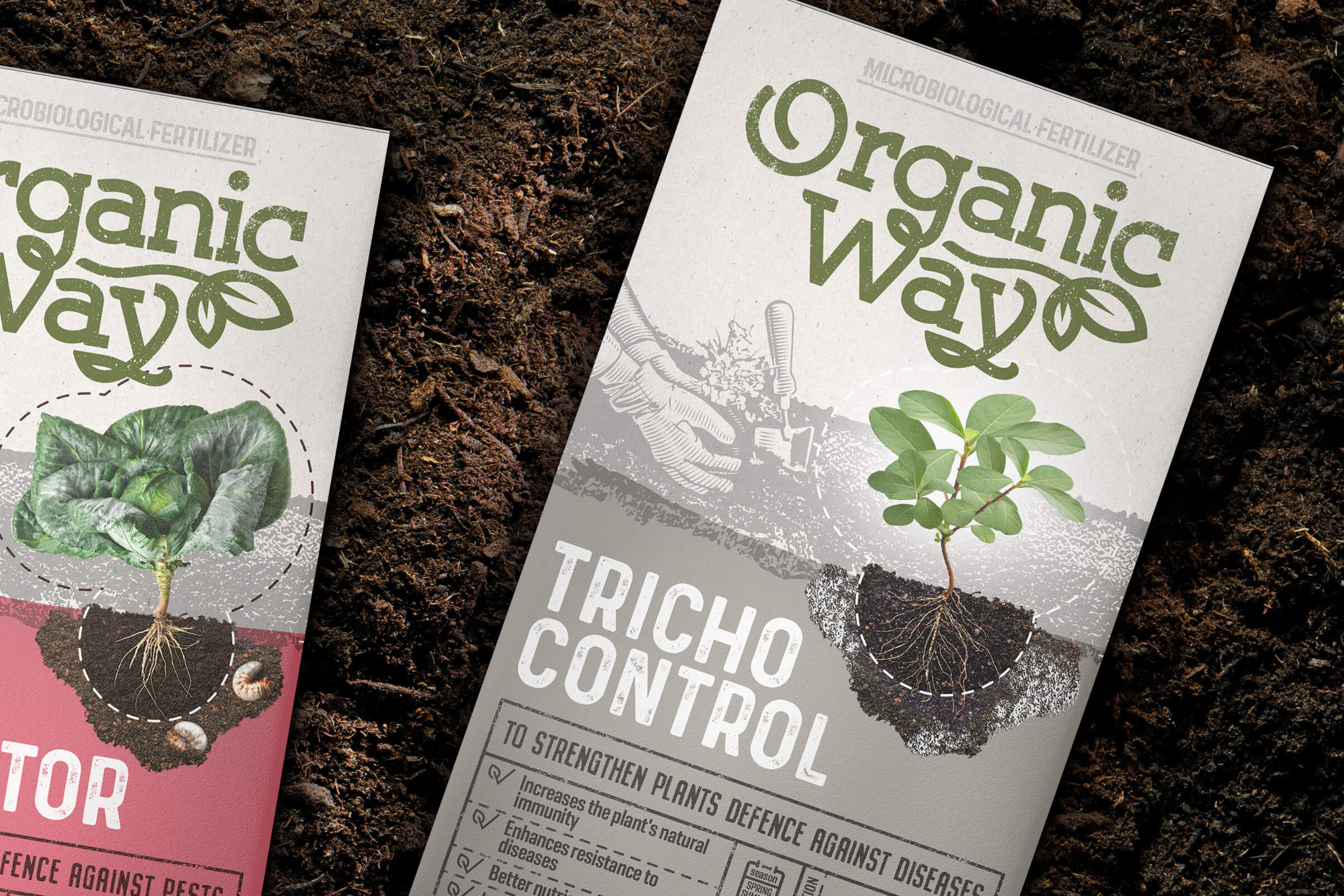 Organic Way Fertilizers Packaging Design