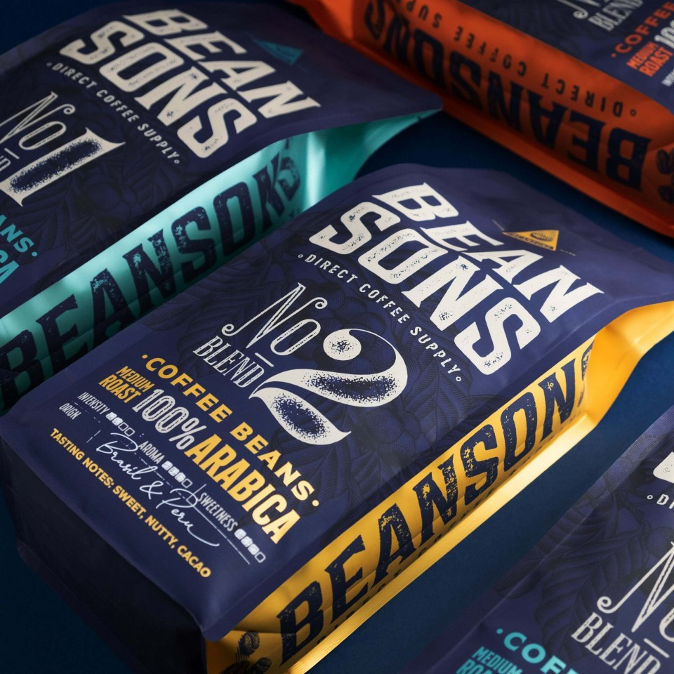 Beansons Coffee Branding and Packaging Design