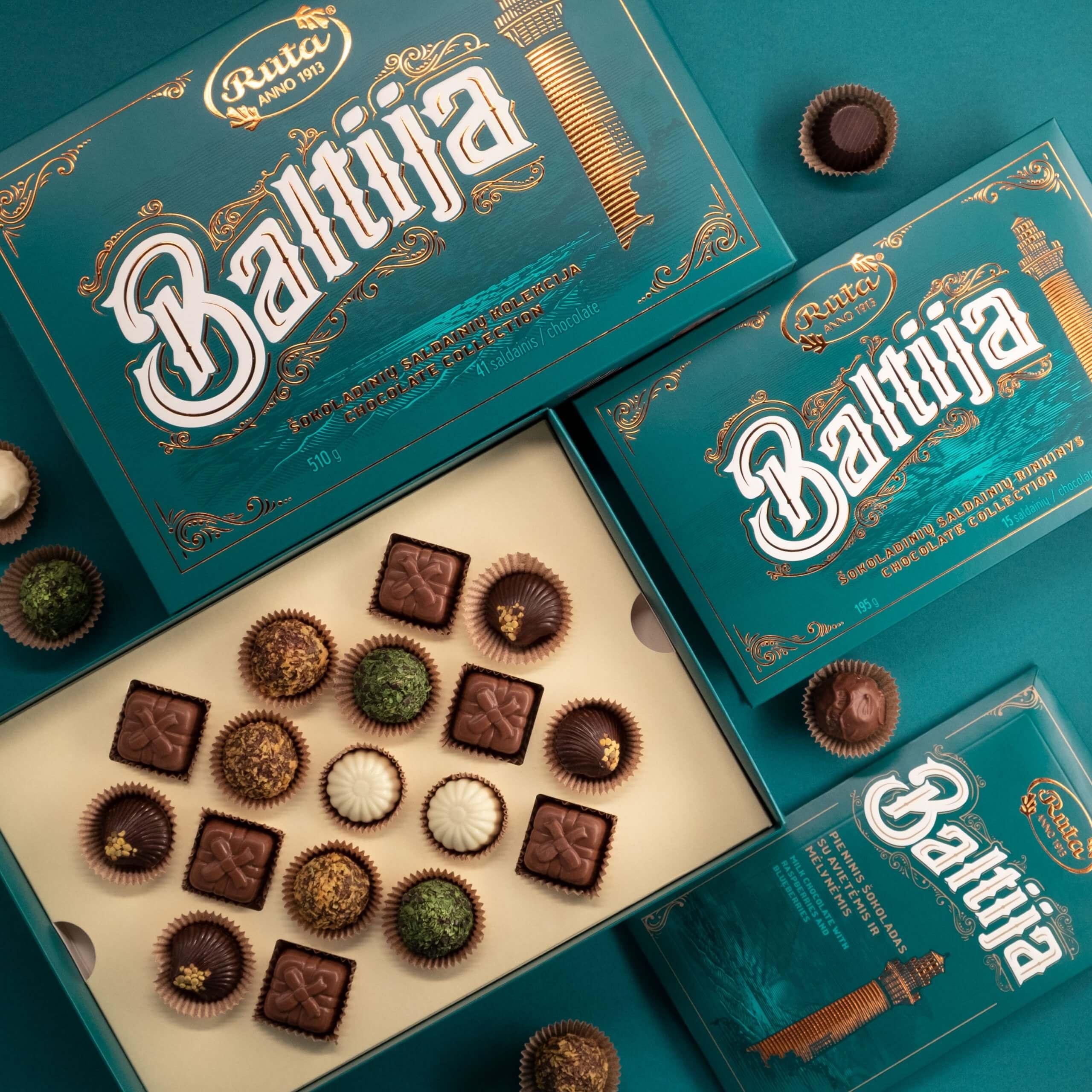 Baltija Chocolate Collection Packaging Design